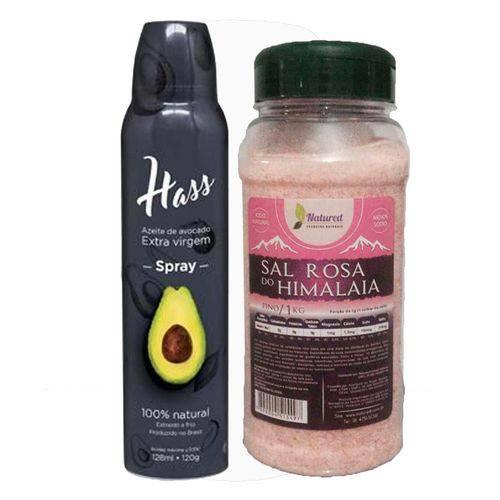 1 Azeite Hass 128 Ml Spray Óleo de Abacate + 1 Sal Rosa Fino