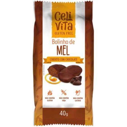 12 Bolinhos de Mel Cobertos com Chocolate 40g - Celivita
