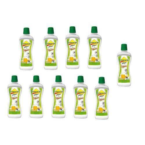 10 Unid. Adoçante Lowçucar Plus com Stevia - 80ml Lowçucar