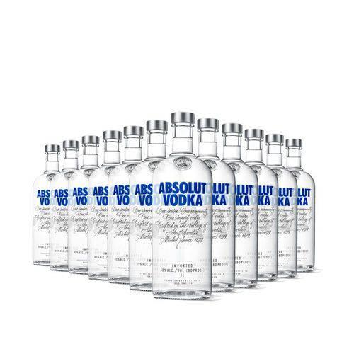 12x Vodka Absolut Original 1l