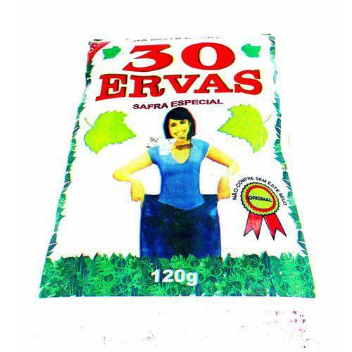 5 Unids Chá 30 Ervas Emagrecedor Diurético Queimador 120gr