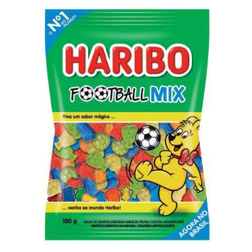7 Pacotes de Bala Football Mix Haribo 100g Cada