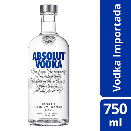 Absolut Vodka Original 750ml Absolut Vodka Original Sueca Garrafa 750 Ml