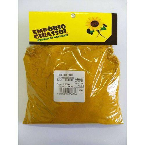 Açafrão Puro - 100% Natural - Embalagem 250gr