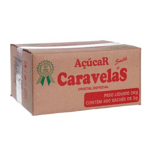 Açúcar Caravelas em Sachet com 400 Unidades