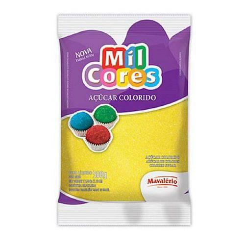 Açúcar Colorido Mavalério 500g Amarelo