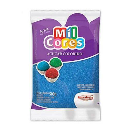 Açúcar Colorido Mavalério 500g Azul