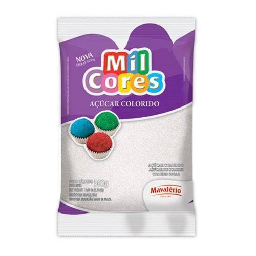 Açúcar Colorido Mavalério 500g Branco