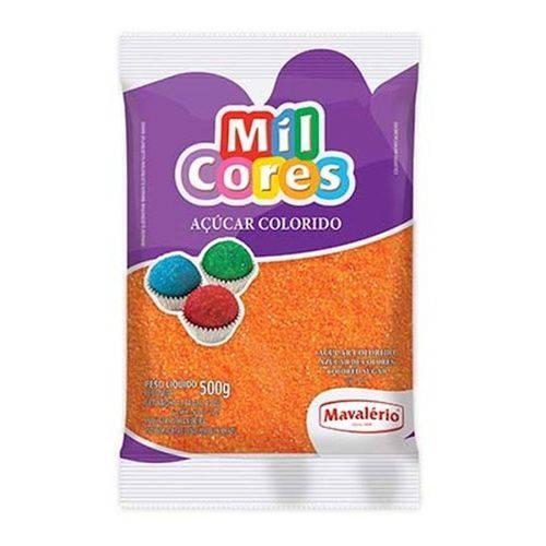Açúcar Colorido Mavalério 500g Laranja