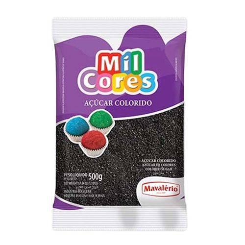 Açúcar Colorido Mavalério 500g Preto