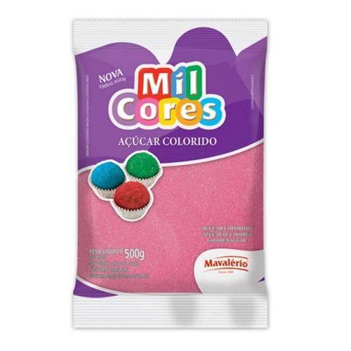 Açúcar Colorido Mavalério 500g Rosa