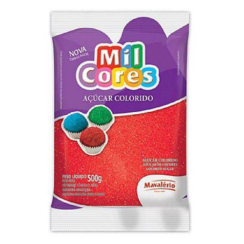 Açúcar Colorido Mavalério 500g Vermelho