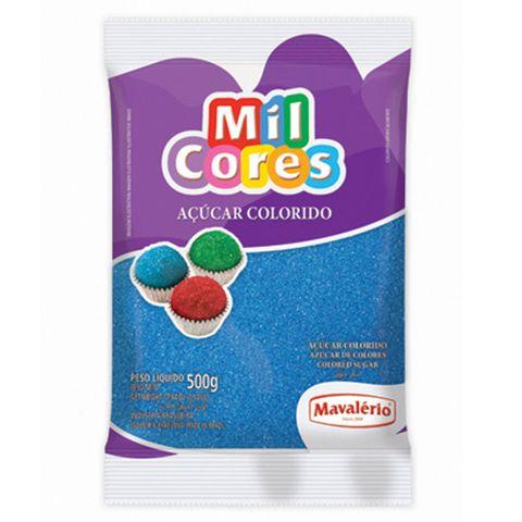 Açúcar Cristal Azul Mil Cores 500g - Mavalério