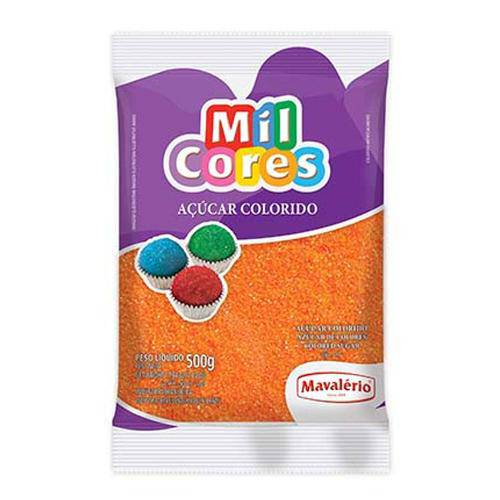 Açúcar Cristal Laranja Mil Cores 500g - Mavalério