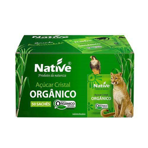Açúcar Cristal Orgânico Native - Caixa C/50 Sachês de 5g