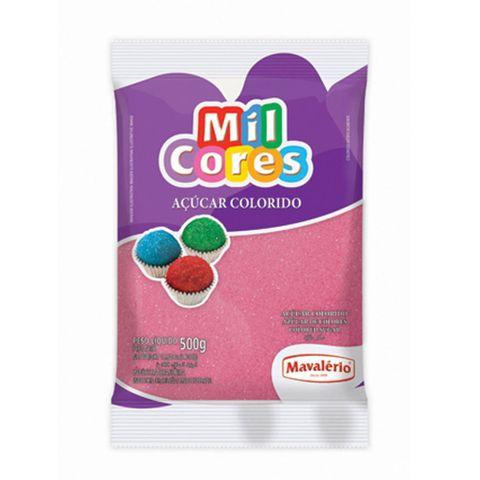 Açúcar Cristal Rosa Mil Cores 500g - Mavalério