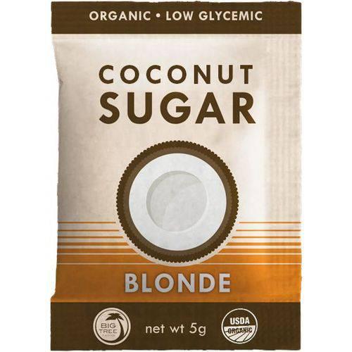 Açúcar de Coco Blonde Usda Organic Big Tree Farms 50 Sachês Caixa