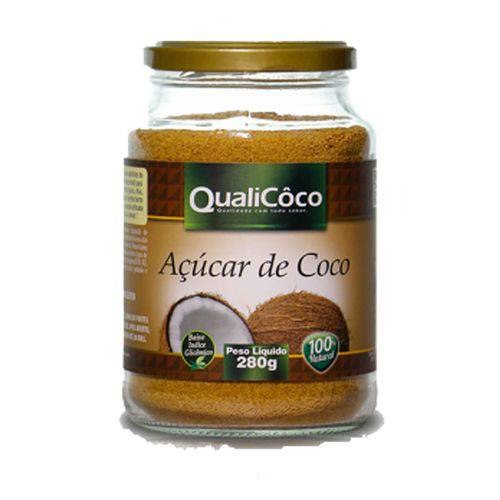 Açucar de Coco Pote 280 Grs Qualicoco