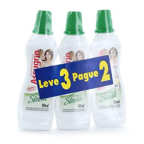 Adoçante Assugrin com Stevia 80 Ml - Leve 3 Pague 2