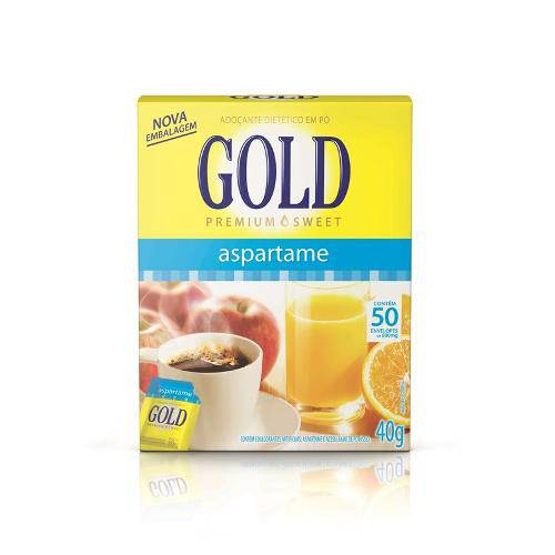 Adoçante em Pó Gold 50 Envelopes