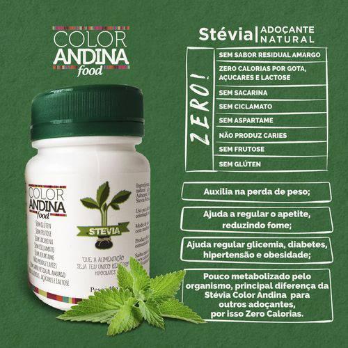 Adoçante Natural COLOR ANDINA, Stévia Premium Sem Fundo Amargo