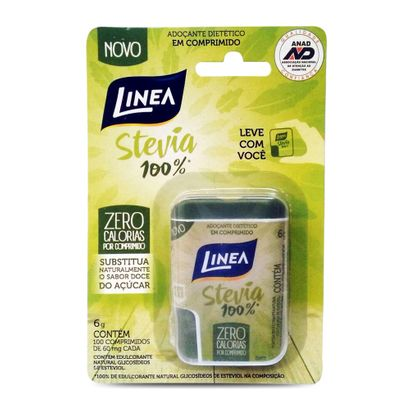 Adoçante Linea Stevia 60mg com 100 Comprimidos