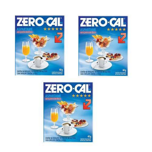 Adoçante Zero Cal 50 Envelopes 0,8g 3 Unidades