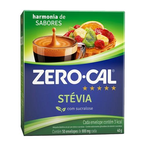 Adoçante Zero Cal Stevia 50 Sachês