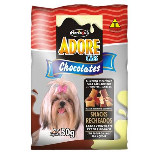 Adore Snacks Cães Chocolate Hercosul - 50 G