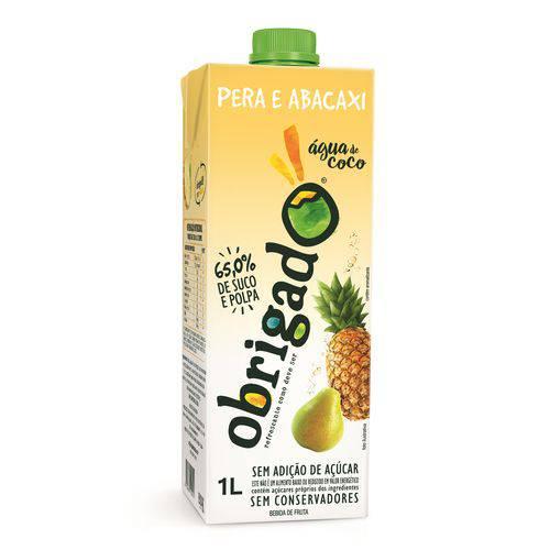 Água de Coco Natural - Abacaxi e Pera - Sem Adição de Açúcar - 1 Litro
