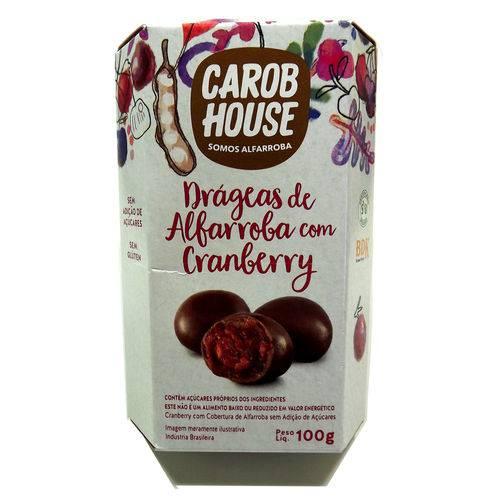 Alfarroba com Cranberry Carob House 25g