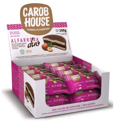Alfarroba Duo (biscoito de Arroz, Creme de Avela e Cobertura de Alfarroba) 16x18g - Carobhouse