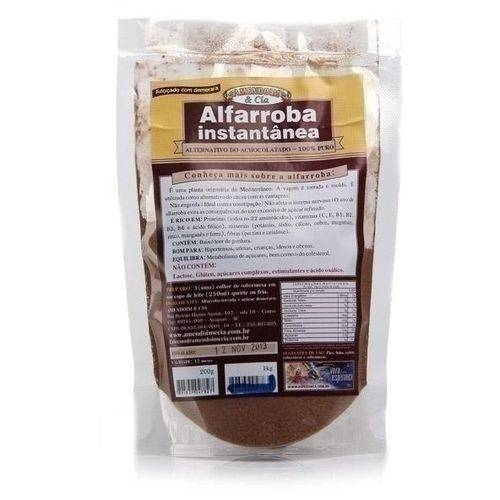 Alfarroba Instantâneo 200g - Amendoim & Cia