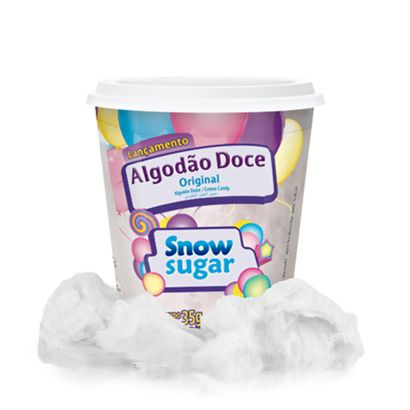 Algodão Doce Sabor Original Snow Sugar 35g Mavalério