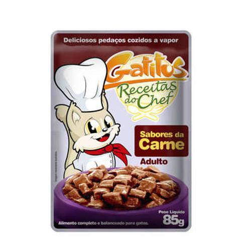 Alimento Úmido Gatitus Sabores da Carne para Gatos - 85 G
