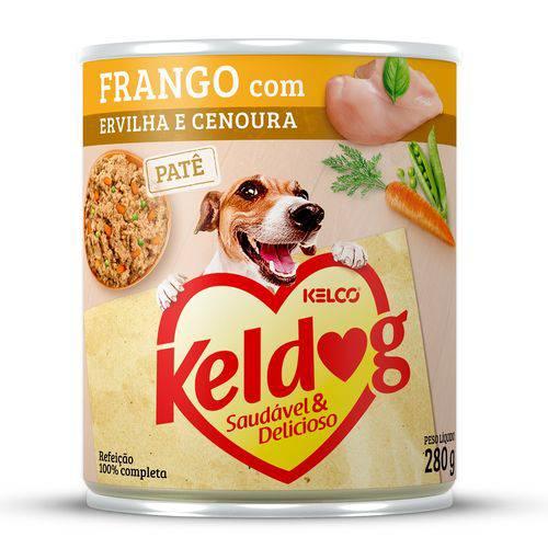 Alimento Úmido Keldog Frango, Ervilha e Cenoura 280g