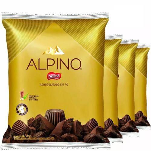 Alpino Achocolatado em Pó 1kg Nestle - Kit com 4 Unidades - Total 4kg