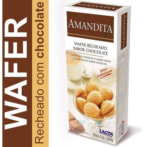 Amandita Wafer Lacta 200g Rech Choc