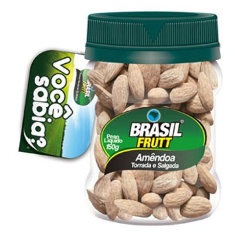 Amêndoa Salgada 150g - Brasil Frutt