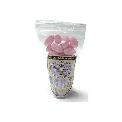 Amêndoas Confeitadas Rosa Bebê 200g Marhaba MM