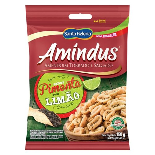 Amendoim Amindus 150g Pimenta C/Limao