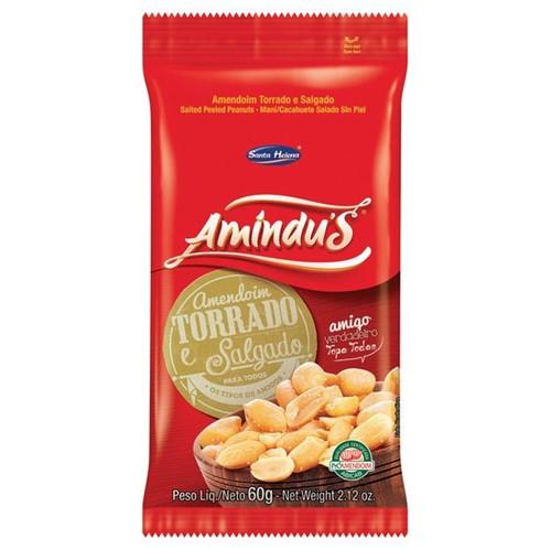 Amendoim Amindus 60g Salgado