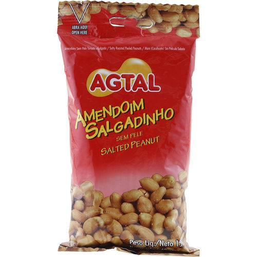 Amendoim Salgadinho Sem Pele 155g - Agtal
