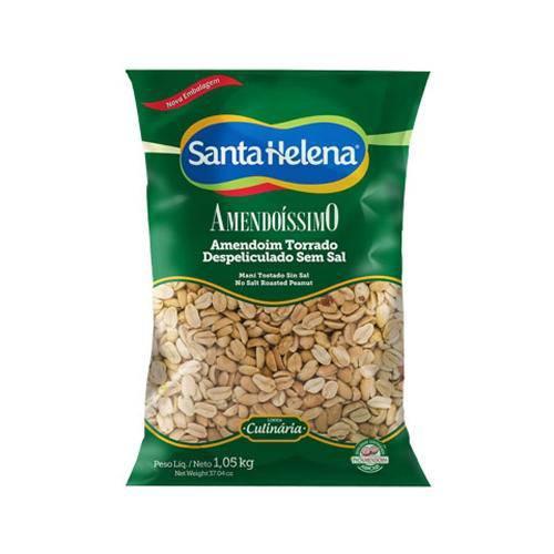 Amendoim Torrado Sem Pele e Sem Sal 1kg