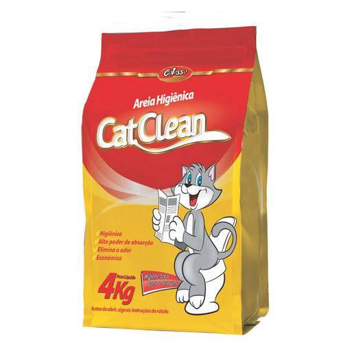 Areia Higiênica para Gatos Catclean Colosso 4 Kg