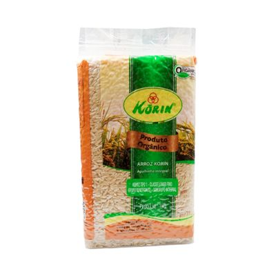 Arroz Agulhinha Integral Orgânico 1kg - Korin