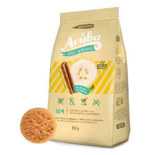 Aruba Biscoito Zero Doce Ban/CAN (80g)