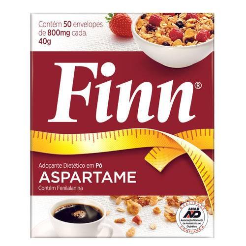 Aspartame Finn em Pó 8g com 50 Unidades