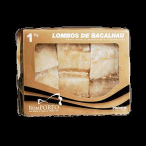 Bacalhau Bom Porto Lombo Morhua Dessalgado Congelado 1kg