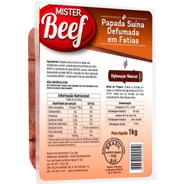 Bacon de Papada Defumada Mister Beef 1kg